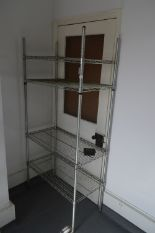 Lot 8 - *4 Tier Chrome Pot Rack