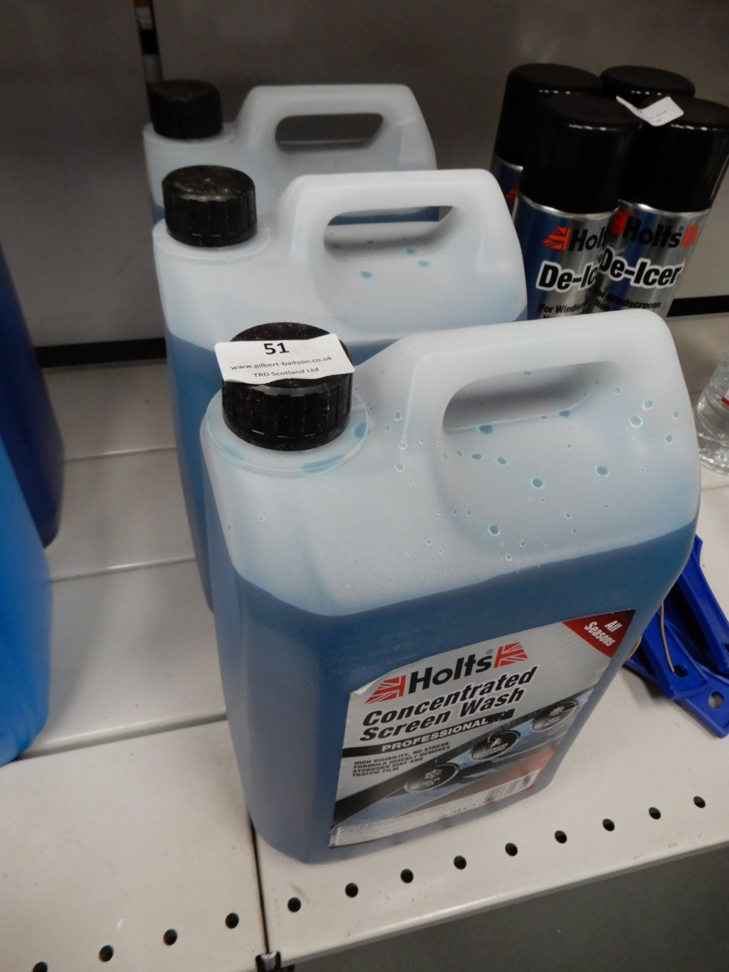 *3x5L of Holts Concentrated Screenwash