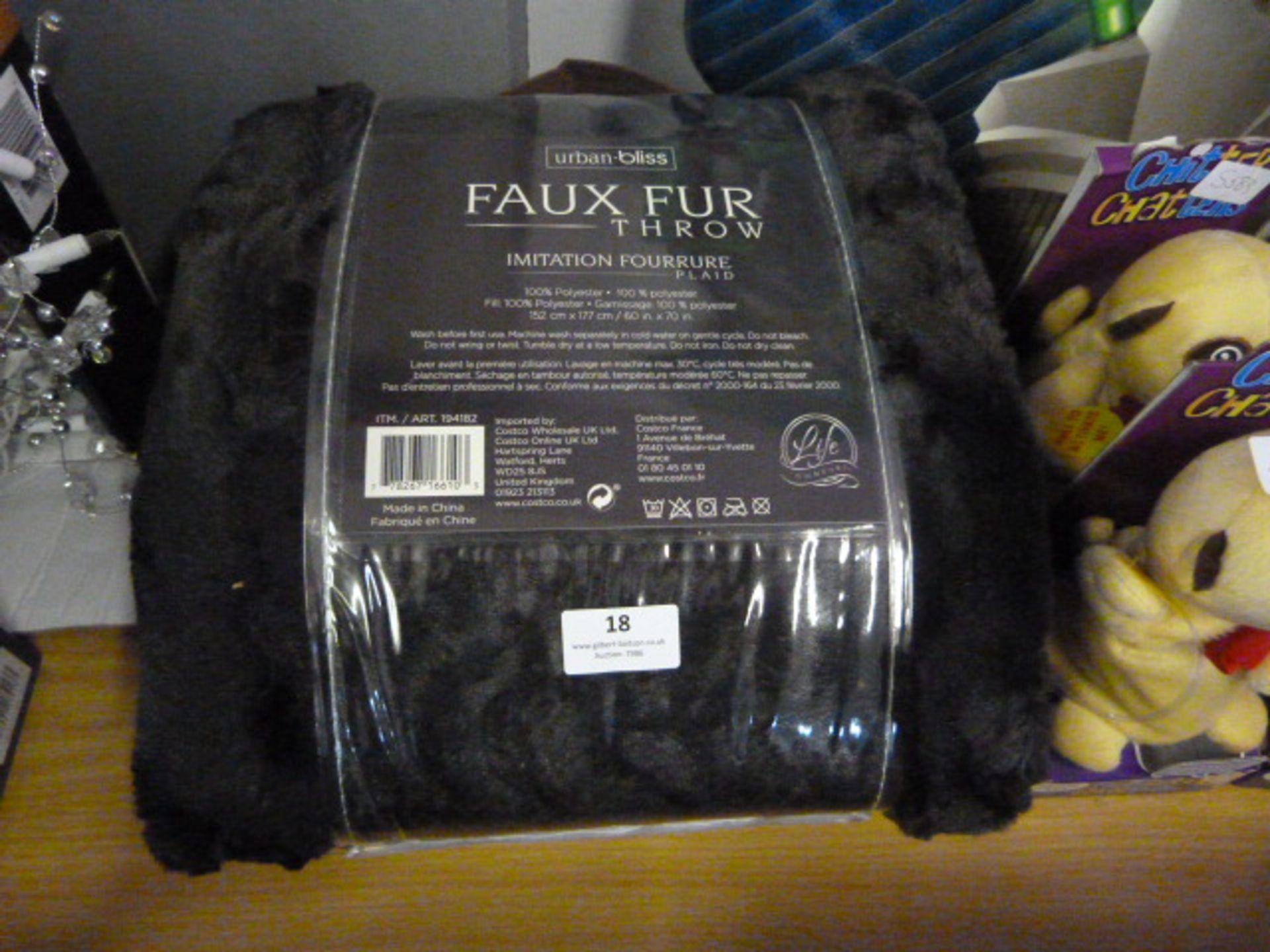 *Urban Bliss Faux Fur Throw