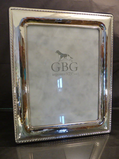 Lot 17 - Hallmarked silver Modern photo frame with original box presentation gift from the Maple Handicap