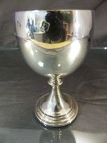 Lot 13 - Hallmarked silver Goblet with gilt interior by John Henry Odell, London 1969 Approx weight - 134.4g