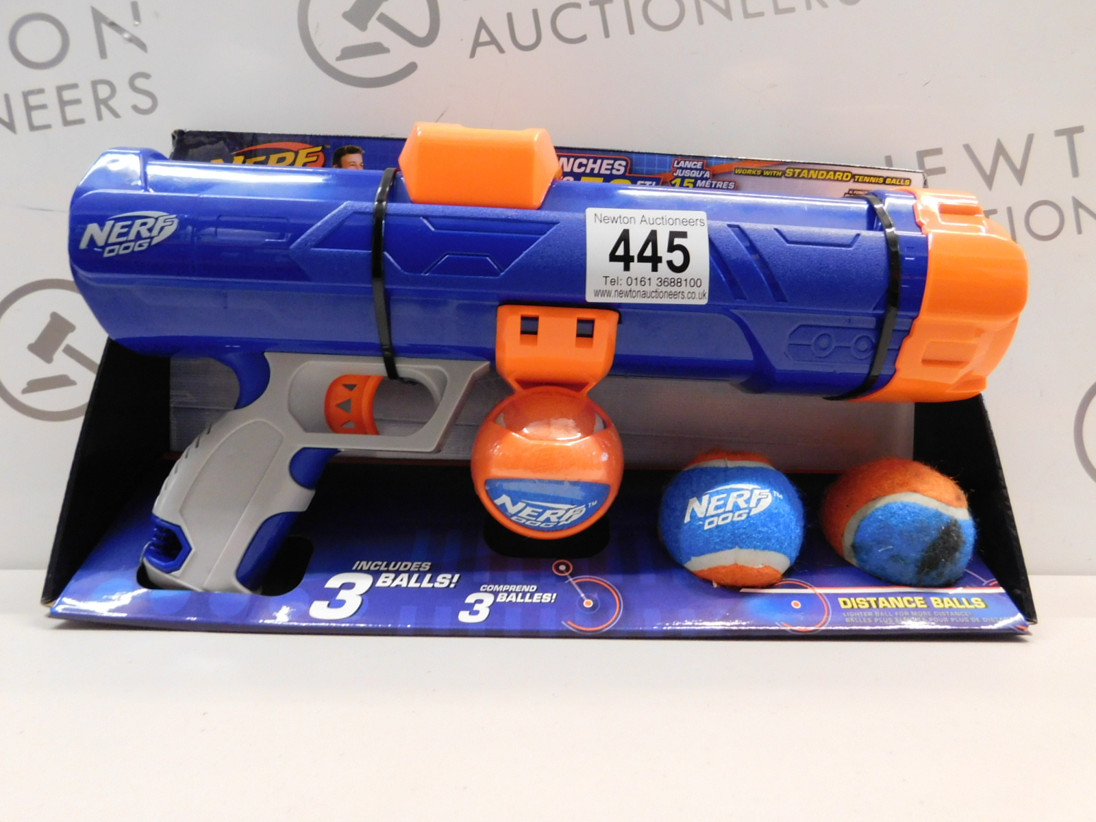 Lot 445 - 1 PACK OF NERF DOG TENNIS BALL BLASTER RRP £24.99