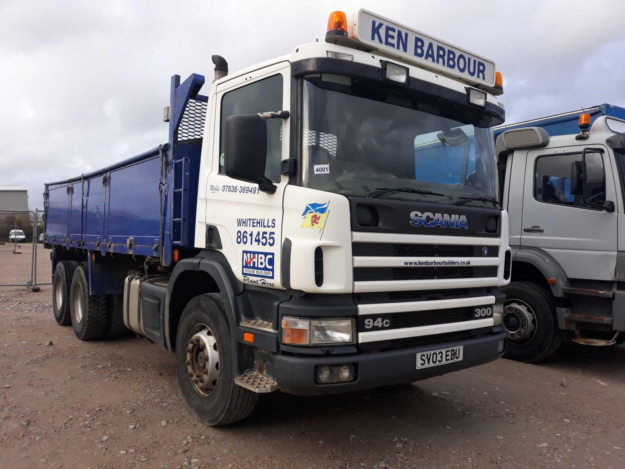 Lot 4001 - Scania 4-srs C-class P94 Cb 6x4 300 Day - 8970cc 2 Door Truck