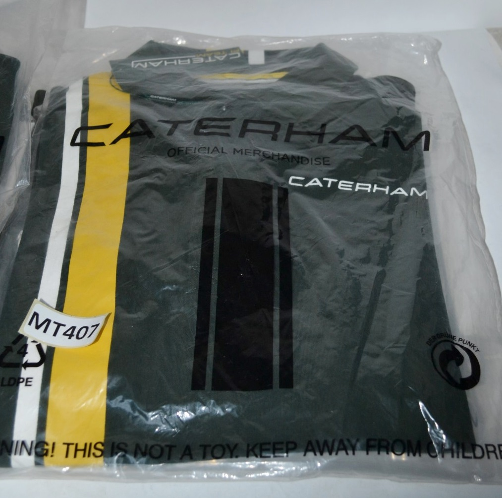 10 X Assorted Adult Official CATERHAM F1 Polo Shirts