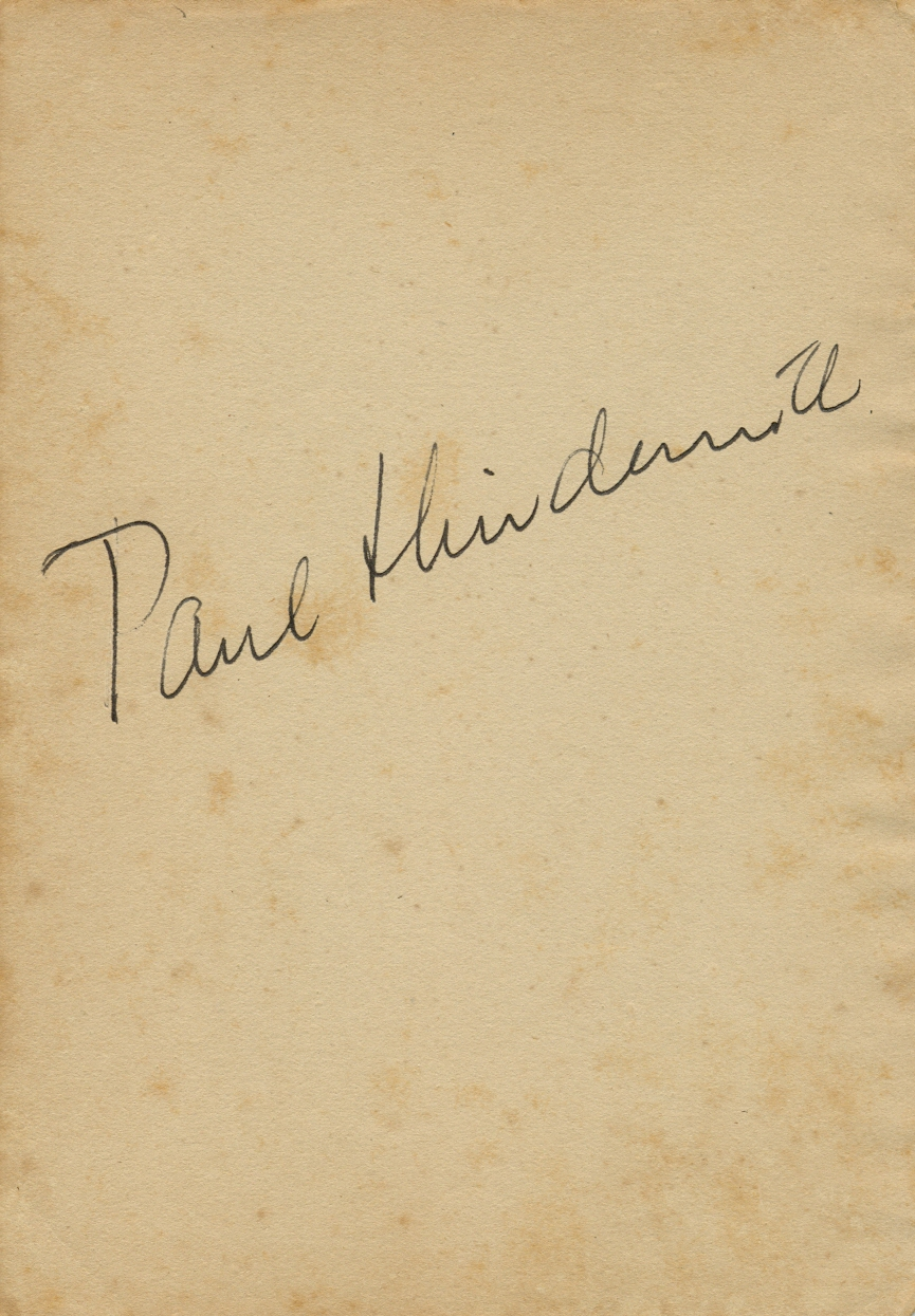 Lot 167 - HINDEMITH PAUL: (1895-1963) German Compo
