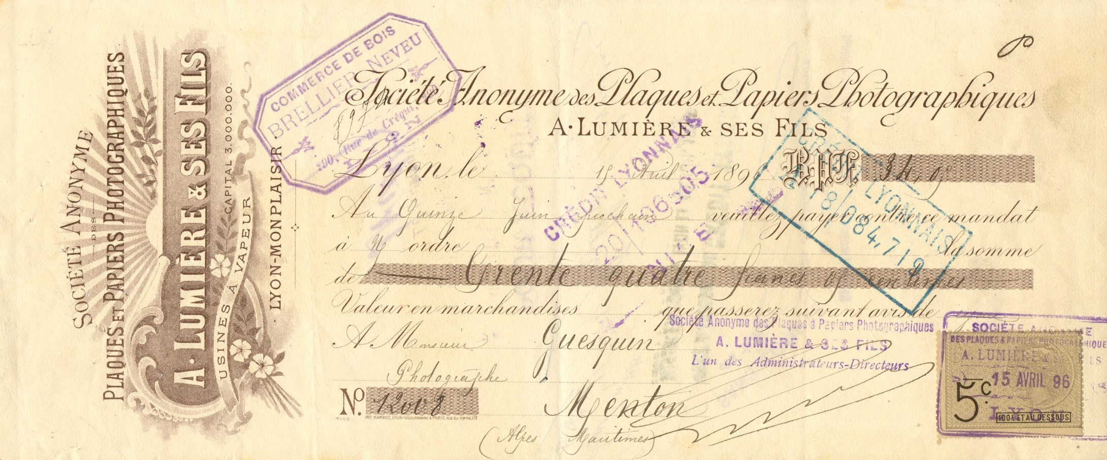 Lot 23 - LUMIERE AUGUSTE: (1862-1954) French Pion