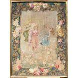Arazzetto periodo liberty, cm. 70x100