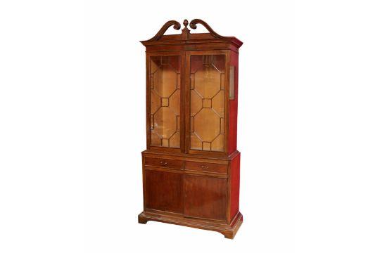 Vetrina anni \'50, 2 porte a vetro, due cassetti e due ante in legno ...