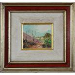 Paesaggio onirico, Pietro Di Lucia 1978, olio, 8 x 9,5 cm (V.F. 841 / 41)