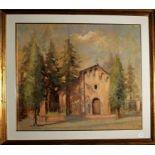 Chiesa di San Sebastiano di Castel Bolognese, olio su tela, Carlo Visani 1998, cm. 60x50