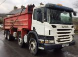 Lot 12 - 2008 | Scania P340 Cab w/ Tipper Steel Body | 578,000km