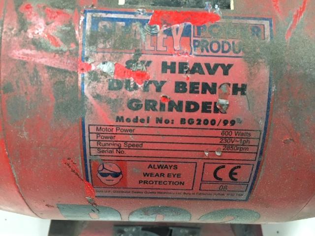 "Lot 110 - Sealey 8"" Heavy Duty Grinder"