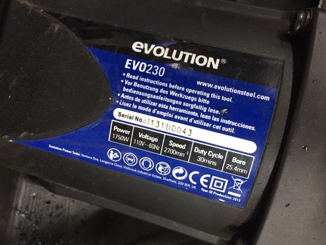 Lot 103 - Evolution EVO230 TCT Circular Saw