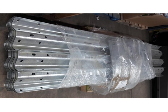 Lot 11 - 28x Unused Steel Barrier Rails w/ 34x Bolt Down Posts & 8x Fishtail Ends | £4,000 AT COST