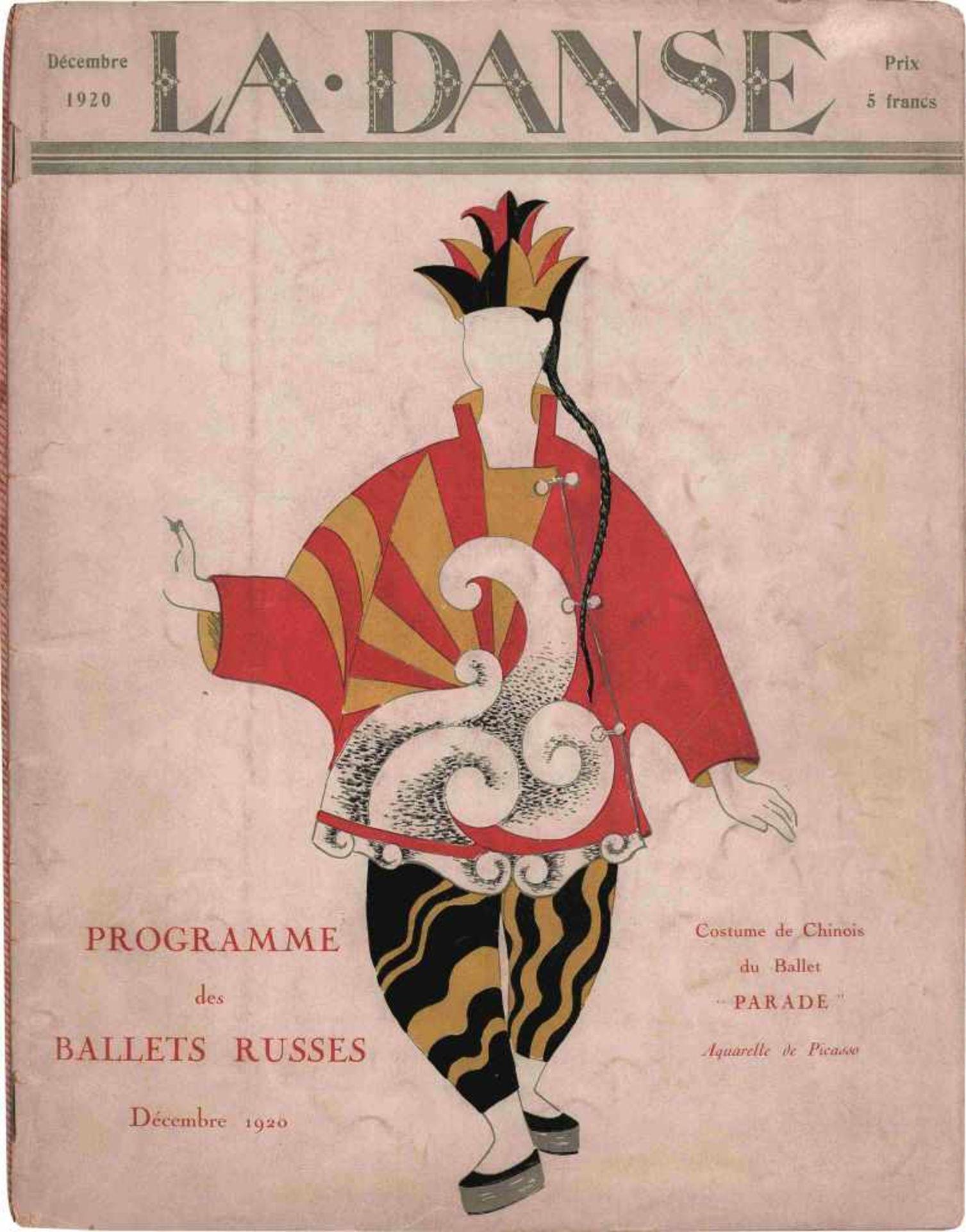 [BALLETS RUSSES, BENOIS, HUGO, DIAGHILEW, BAKST, PICASSO] Programmheft der Ballets Russes im Théâtre