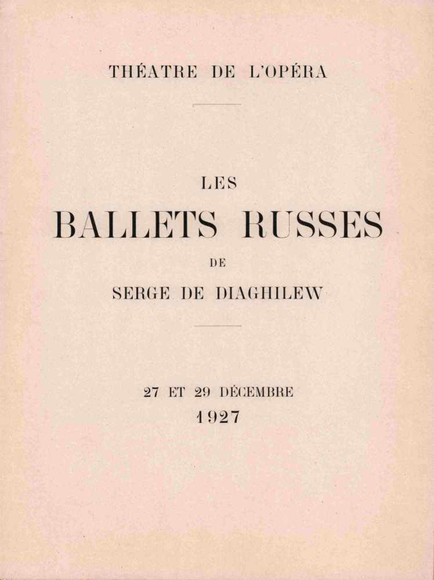 [BALLETS RUSSES, DIAGHILEW] Ballets Russes von Sergei Djagilew der Aufführung vom 27. und 29. - Bild 2 aus 2