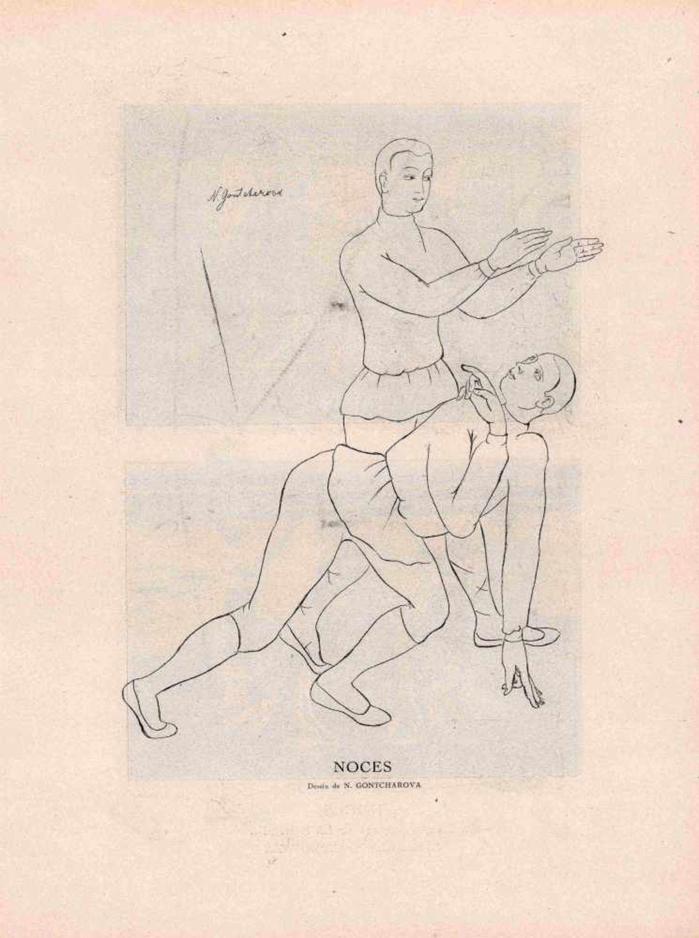 [BALLETS RUSSES, GONTSCHAROWA, LARIONOW, PICASSO, DIAGHILEW] Ballets Russes im Théâtre Lyrique - Bild 2 aus 2