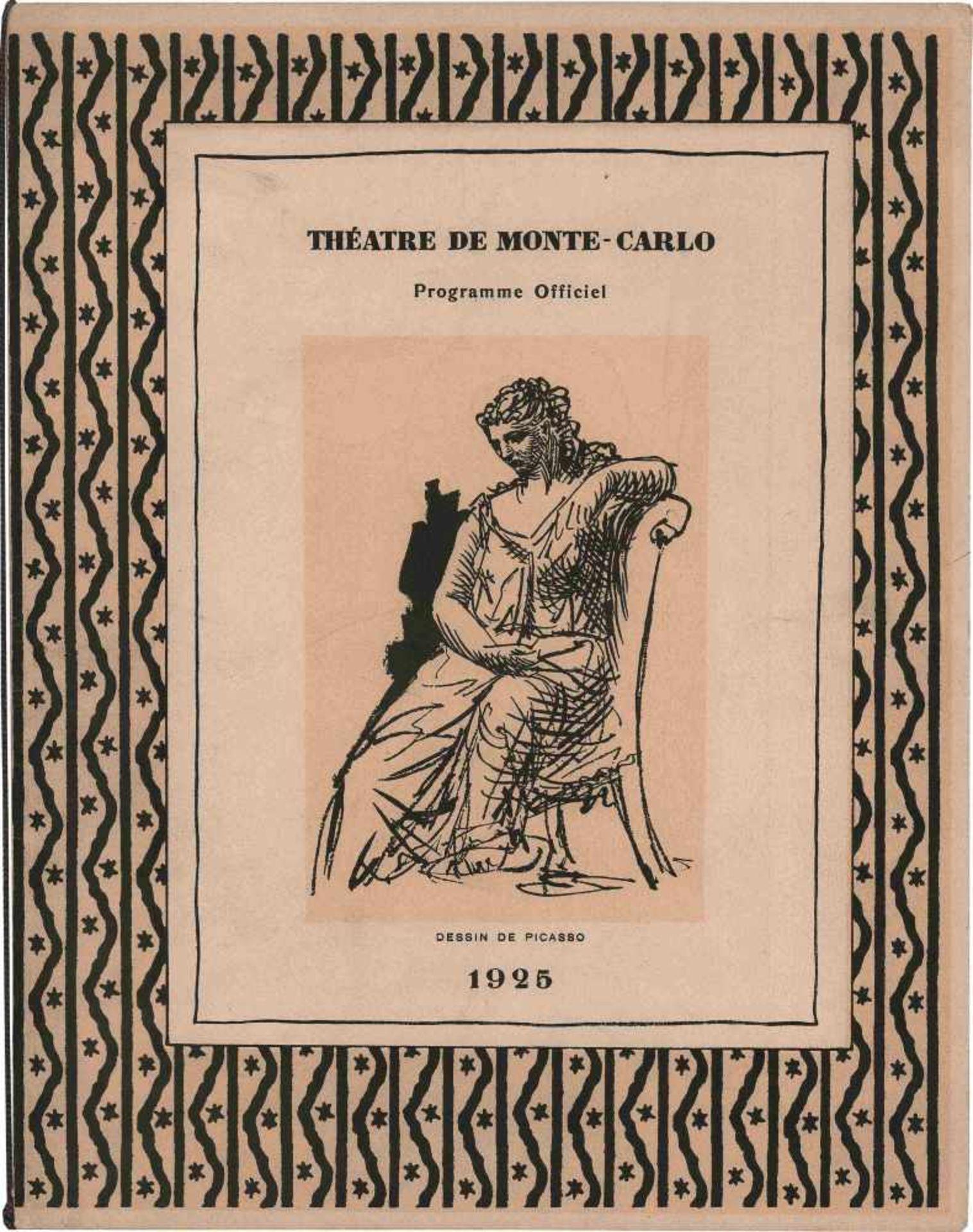 [BALLETS RUSSES, BRAQUE, GRIS, LAURENCIN, PICASSO] Ballets Russes im Théâtre de Monte-Carlo, Januar,