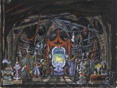 Mstislav Dobuzhinski (1875-1957) Bühnenbildentwurf für den II. Akt des Balletts Coppelia