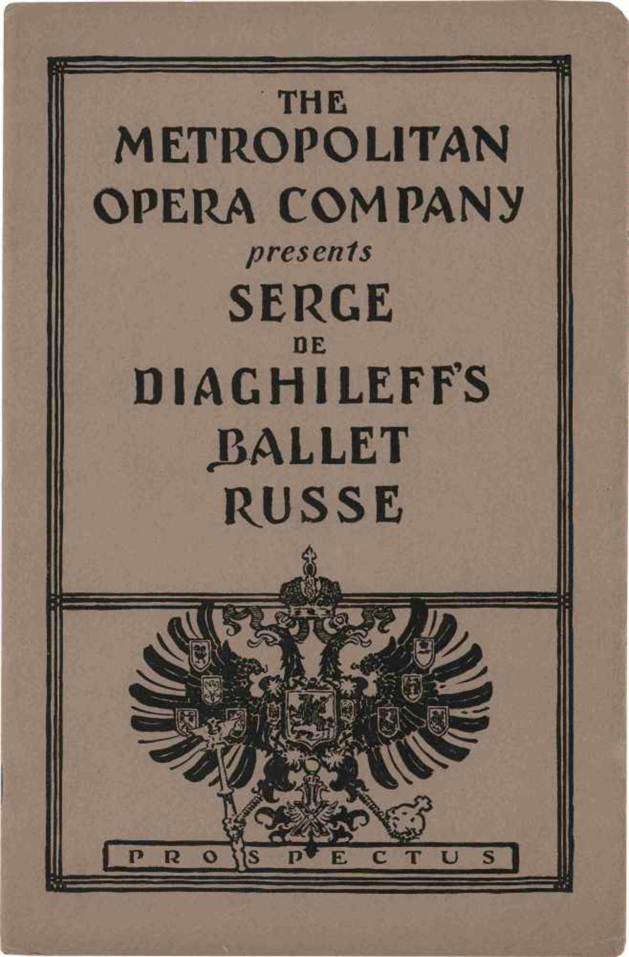 [BALLETS RUSSES, DIAGHILEW] Lot aus 1 Flyer und 2 Programmheften der Auftritte der Truppe der - Bild 2 aus 3