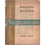 [BALLETS RUSSES, BAKST, LARIONOW, MARTY, PICASSO] Russische Saison, 1917, Théâtre du Châtelet,