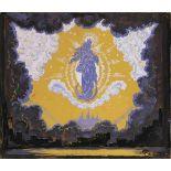 Mstislav Dobuzhinski (1875-1957) Bühnenbildentwurf für die Szene Erscheinung der Jungfrau Maria -