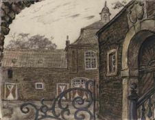 Mstislav Dobuzhinski (1875-1957) Wahn. Stadtteil von Köln 1957 Karton, Gouache 23,8 х 30,8 cm L.