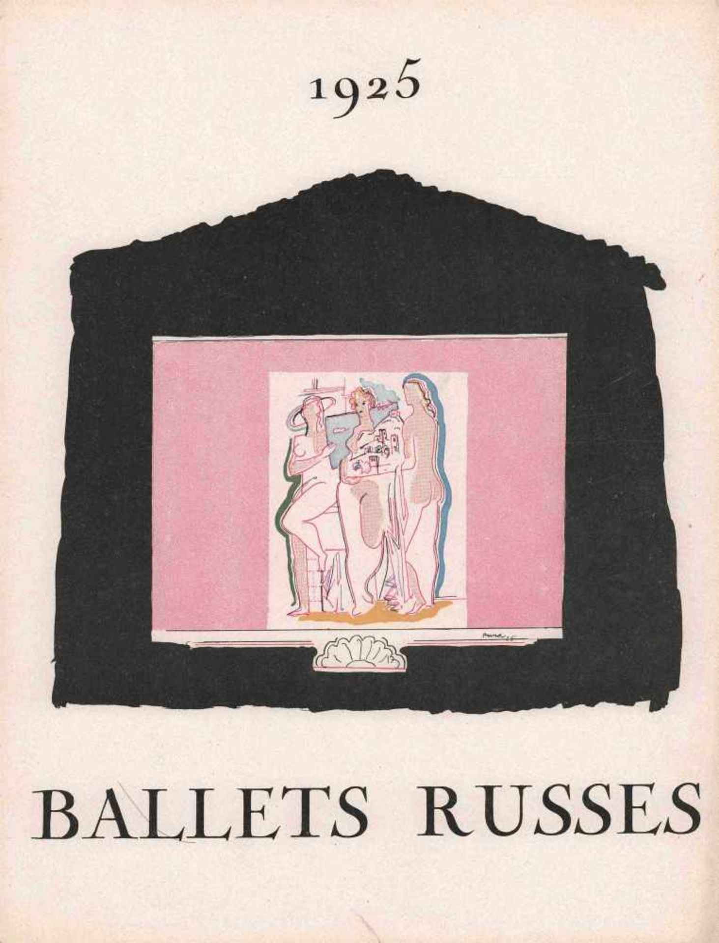 [BALLETS RUSSES, PRUNA, PICASSO, DIAGHILEW] Ballets Russes des Sergei Djagilew in Paris. Juni