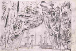 Mstislav Dobuzhinski (1875-1957) Bühnenbildentwurf-Das Kaiserliche Ballett (Ballet Imperial) auf die