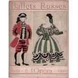[BALLETS RUSSES, BAKST, DERAIN, MARTY, PICASSO] Ballets Russes von Sergei Djagilew 11. Saison in der