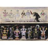 Mstislav Dobuzhinski (1875-1957) Kostümentwürfe für 14 Gestalten - Ballett Coppelia inszeniert von