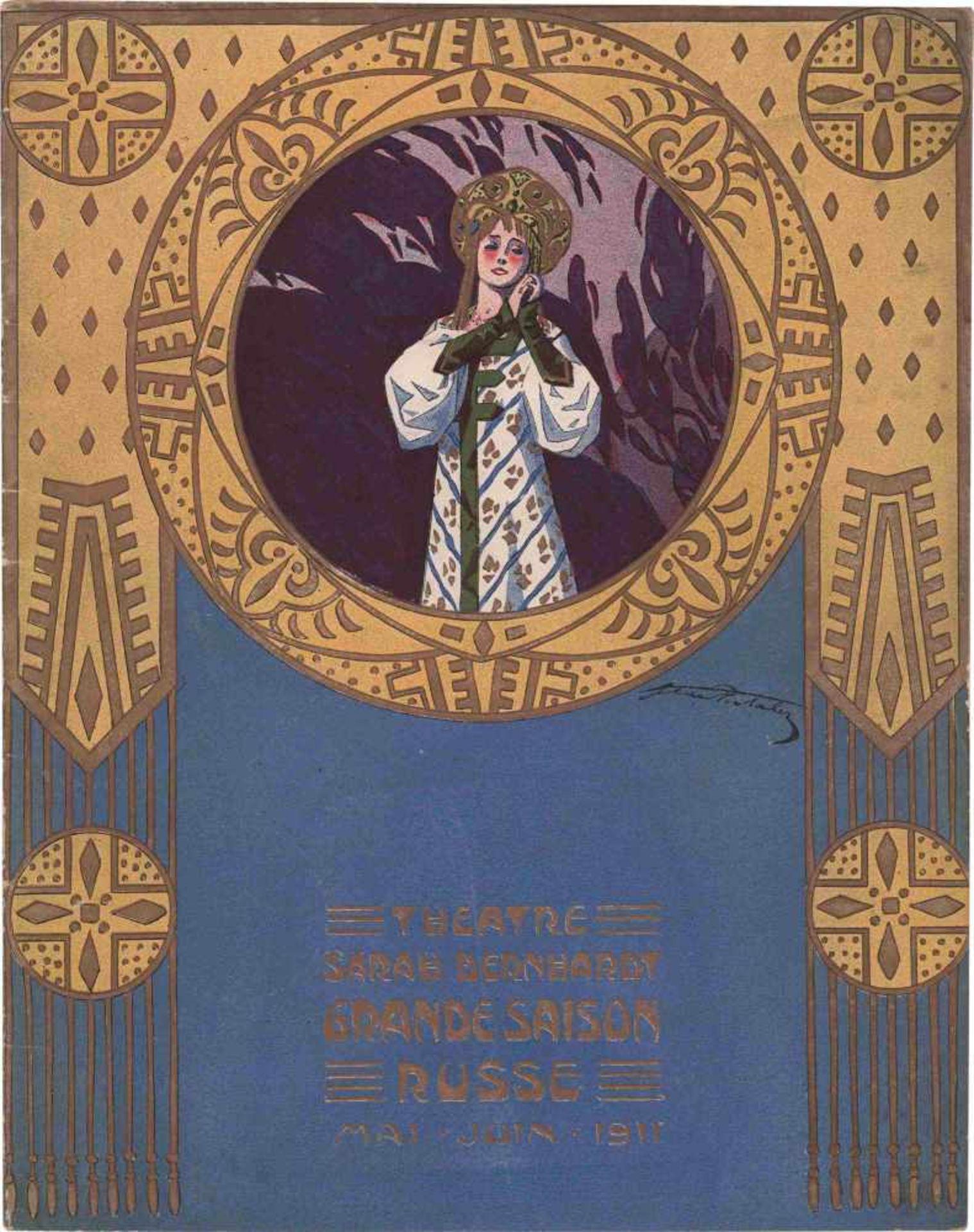 [BALLETS RUSSES, OPERA RUSSE, PORTALEZ] Große Russische Saison, Théâtre Sarah Bernardt, Paris,
