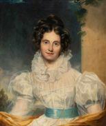 Lot 54 - Englisch ?Bildnis einer jungen FrauÖl auf Leinwand. 76,5 x 64 cm.Provenienz: Aus süddeutschem