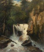 Lot 46 - Jules Louis Philippe Coignet1798 - Paris - 1860BergbachÖl auf Leinwand, doubliert. 54 x 47 cm.