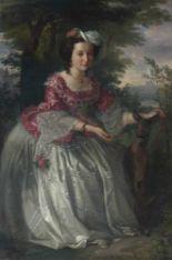 Lot 56 - Ernst Christian Moser1815 - Graz - 1867Bildnis der Frau Czernitz (?)Öl auf Leinwand. 1857. 158,5 x