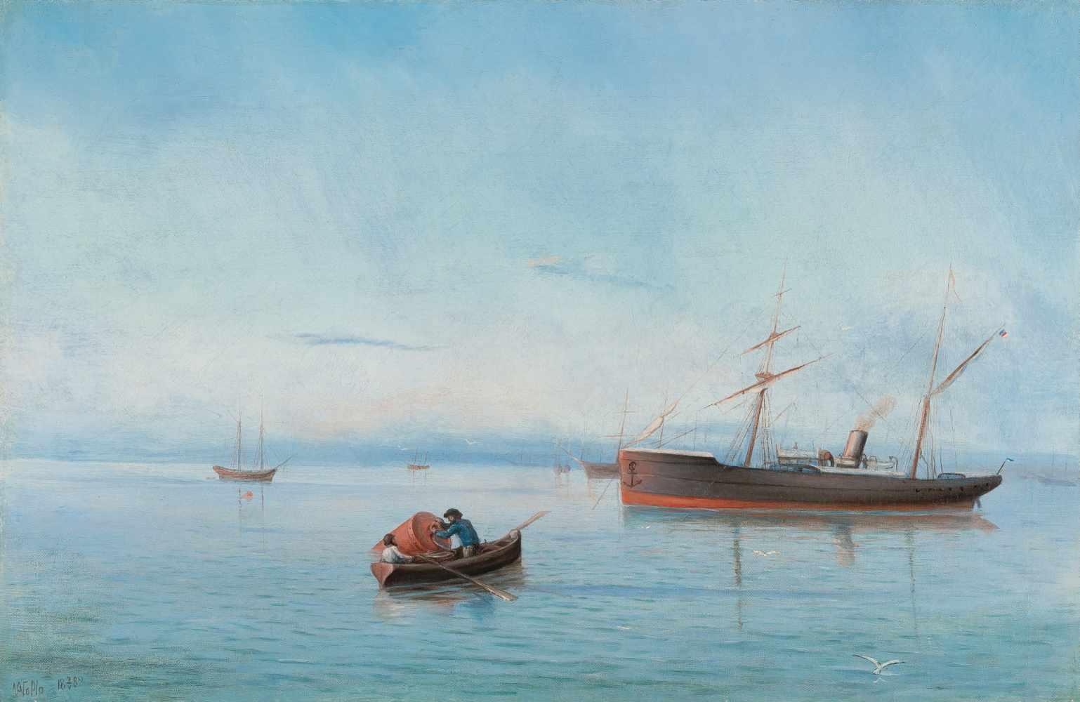 Lot 53 - Lew Felixowitsch Lagorio1828 Feodossija - Sankt Petersburg 1905Schiffe auf dem Schwarzen MeerÖl