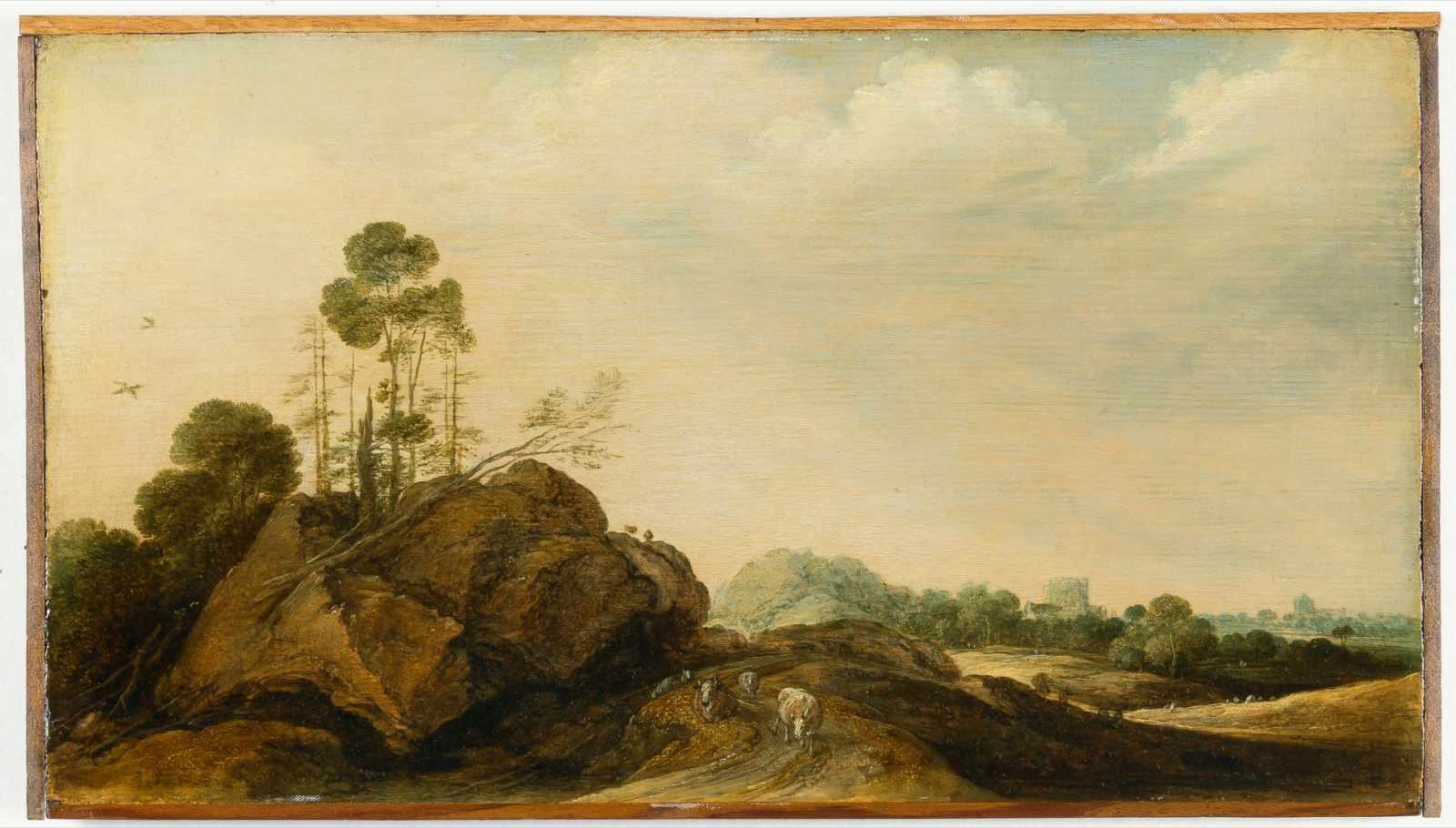 Lot 5 - Gillis Claesz. D' Hondecoeter1575/80 Antwerpen - Amsterdam 1638Felsige Landschaft mit Vieh und