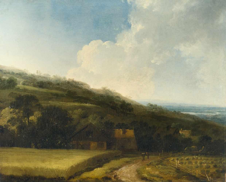 Lot 29 - Johann Christian Klengel ?1751 Kesselsdorf - Dresden 1824Pendants: Flusslandschaft mit