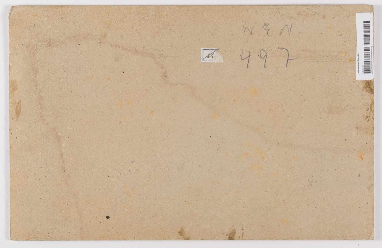 Lot 39 - Deutsch um 1860/70Landschaft in AbendstimmungÖl auf Leinwand, auf Karton aufgezogen. 24,8 x 38,3