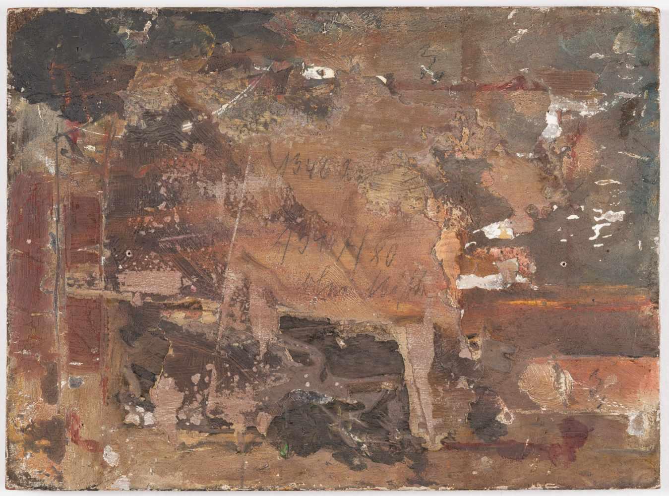 Lot 57 - Friedrich Ernst Wolfrom1857 Magdeburg – Berlin 1923Der PfauÖl auf Holz. 1916. 17,8 x 24 cm. Signiert