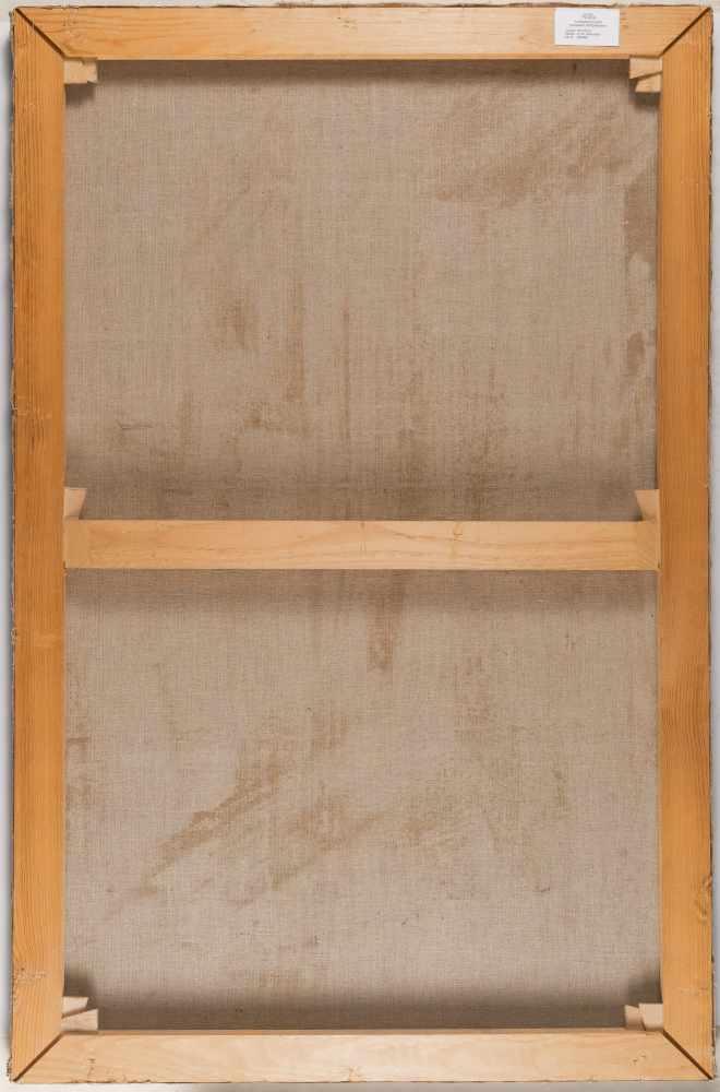 Lot 23 - DeutschDie Taufe ChristiÖl auf Leinwand, doubliert. (17./18. Jh.). 104 x 68 cm.In der Landschaft des