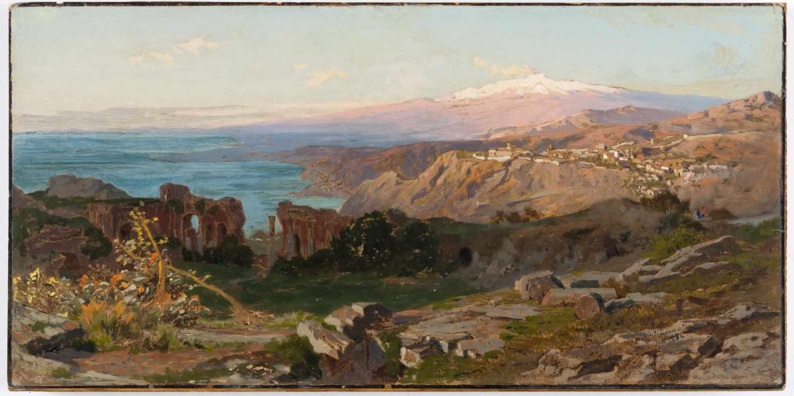 Lot 31 - Karl Lindemann-Frommel1819 Markirch - Rom 1891Das griechische Theater in Taormina mit Blick auf
