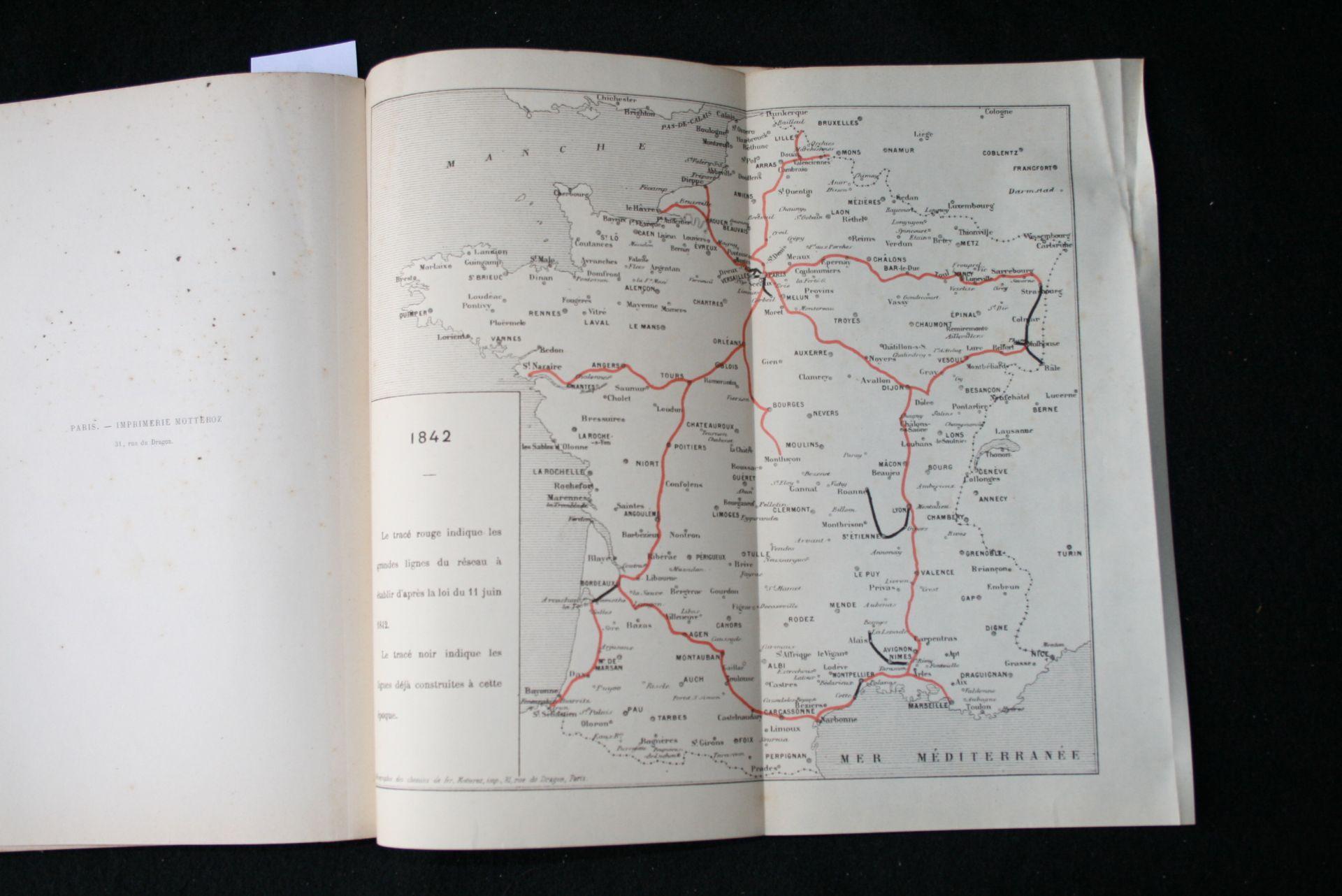 Los 16 - Isaac PEREIRE : La question des chemins de fer avec 5 cartes indiquant la formation [...]