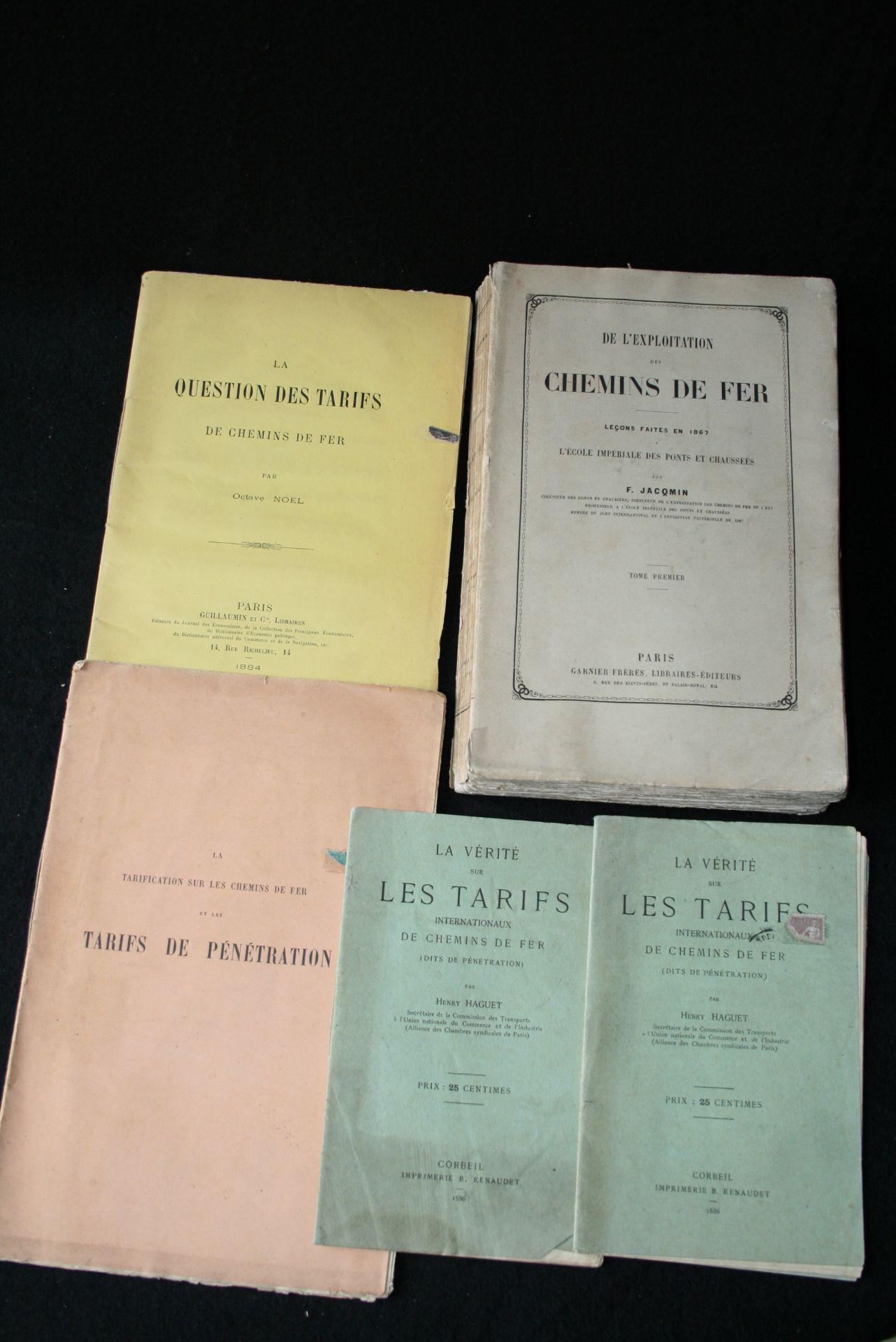 Los 6 - JACQMIN F. - De l'exploitation des chemins de fer, Leçons faites en 1867 – à [...]