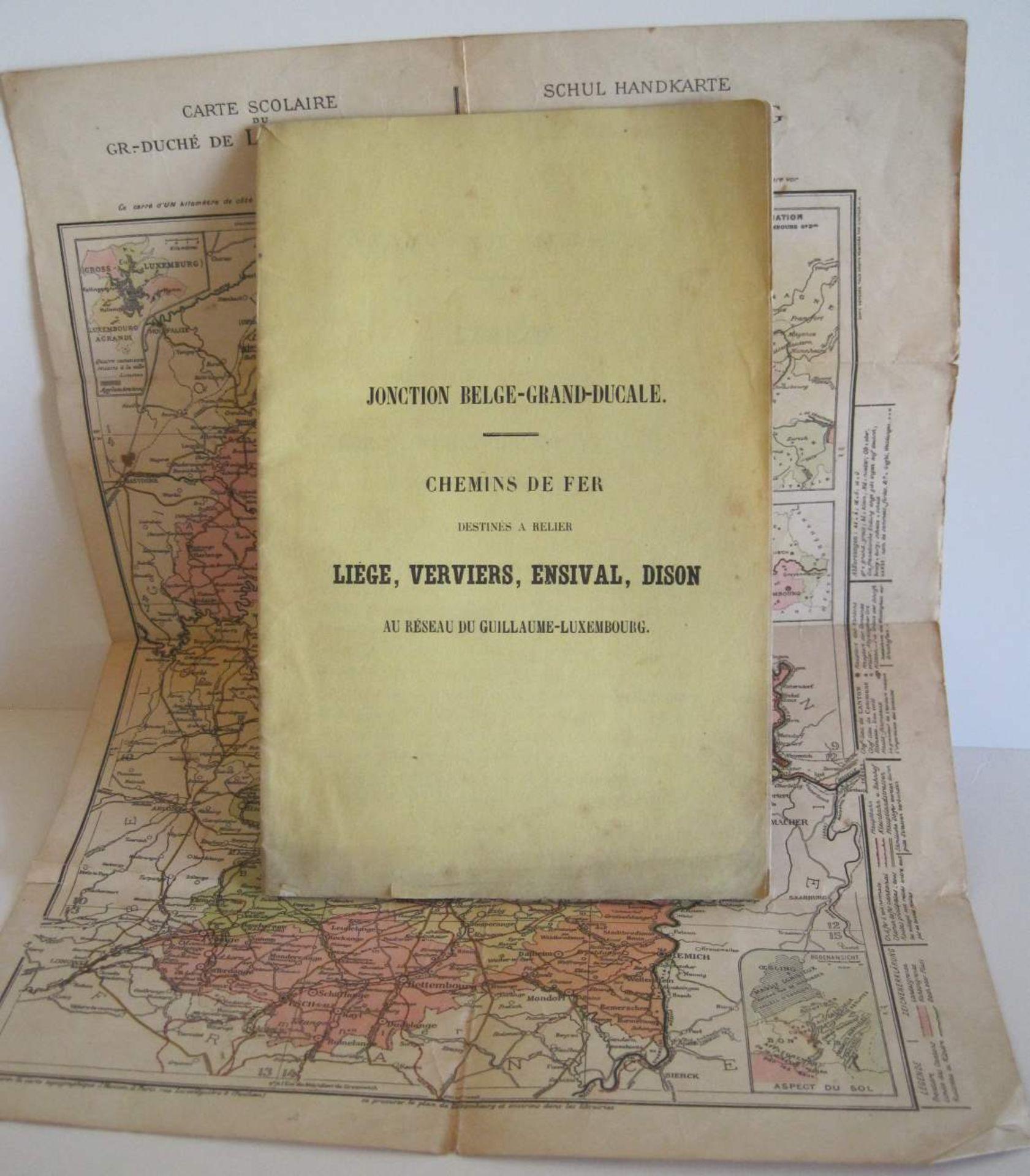 Los 5 - Rare brochure de la jonction Belge-Grand-Ducale destinée à relier Liège, verviers, [...]