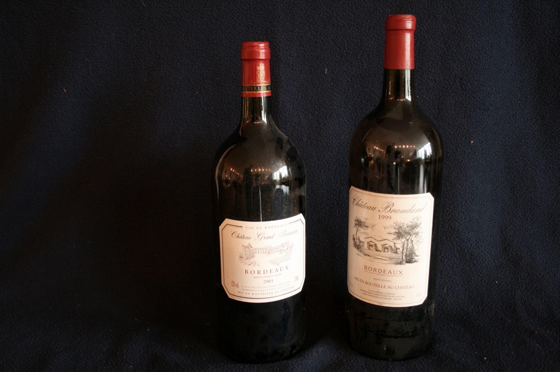 """Los 42 - 2 x Magnums de BORDEAUX rouge """"Appellation Bordeaux contrôlée"""" : Château Grand [...]"""