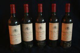 5 bouteilles de BORDEAUX, LALANDE DE POMEROL, Château VIEUX CHEVROL, rouge, 1999 - 5 [...]