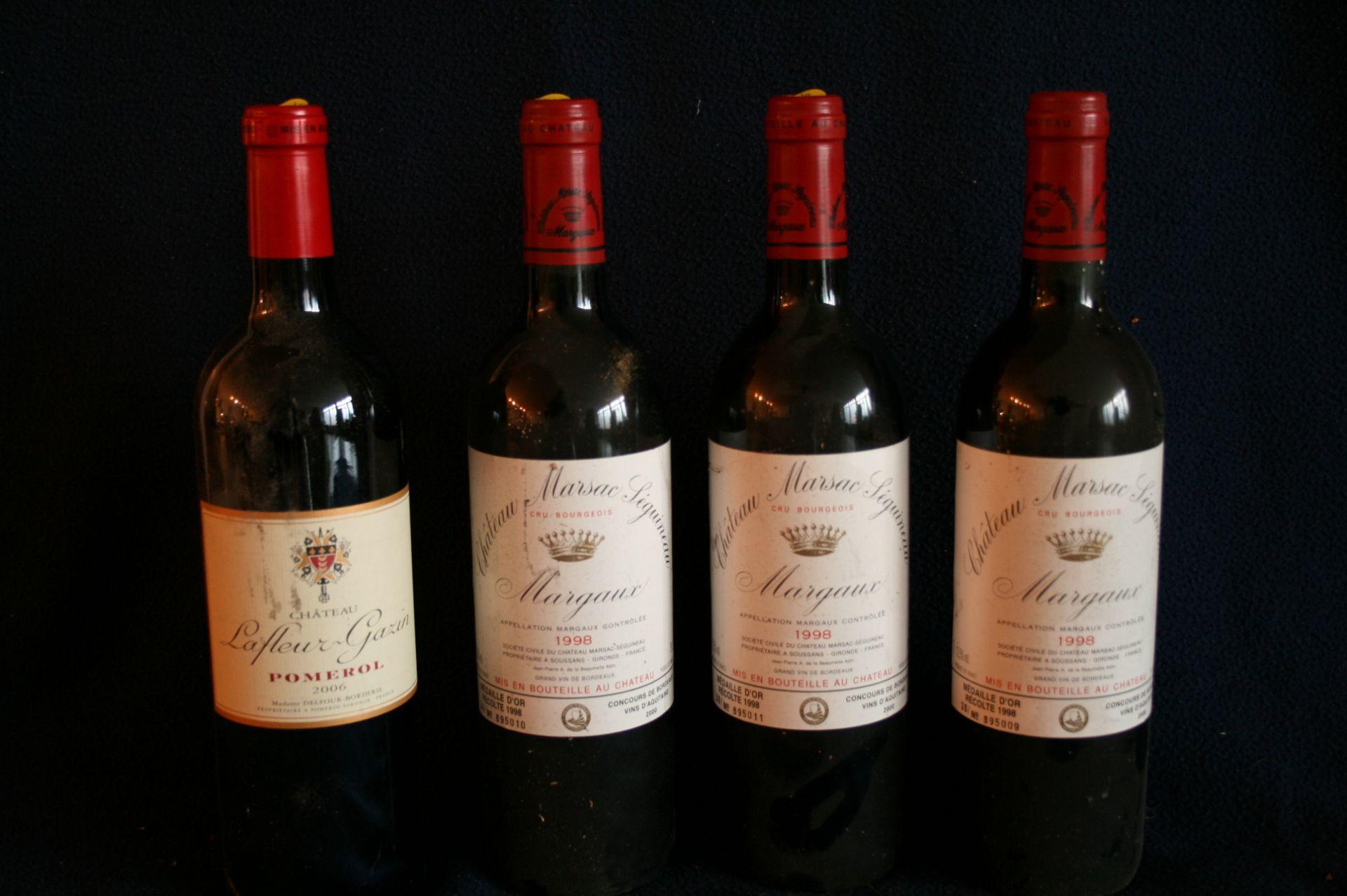 Los 52 - 3 bouteilles de BORDEAUX, MARGAUX Château MARSAC SEGUINEAU, rouge, 1998 + 1 [...]