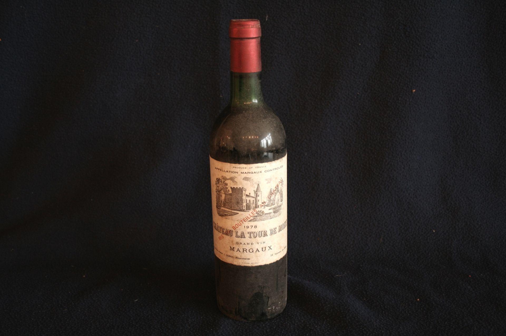 Los 53 - 1 bouteille de Bordeaux MARGAUX, rouge : Château La Tour de Mons, 1978 - 1 bottle of [...]