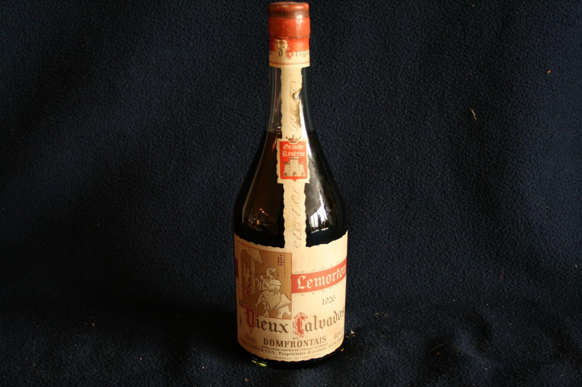 Los 21 - LEMORTON Vieux Calvados du Domfrontais, année 1926, Grande Reserve, 0,7 litre, Alc. [...]